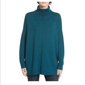 Eileen Fisher Merino Wool Boxy Turtleneck Sweater